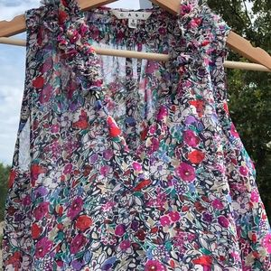 Cabi Sleeveless Liberty Floral Blouse Small